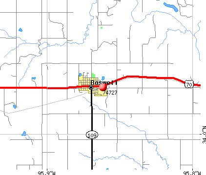 Boswell, OK (74727) map