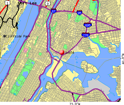 New York, NY (10454) map