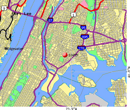 New York, NY (10455) map