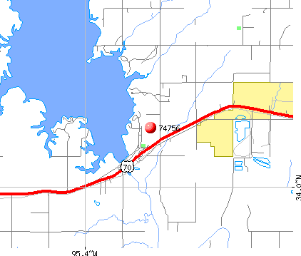 Sawyer, OK (74756) map