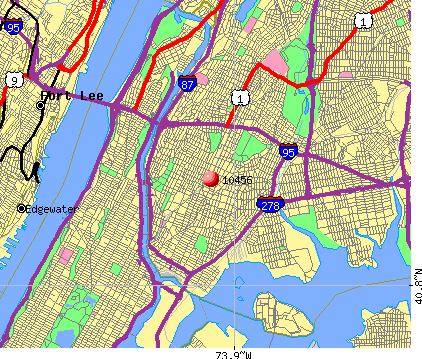 New York, NY (10456) map