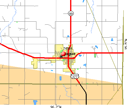 Prague, OK (74864) map