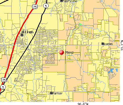 Lucas, TX (75002) map