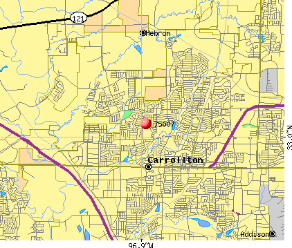 Carrollton, TX (75007) map