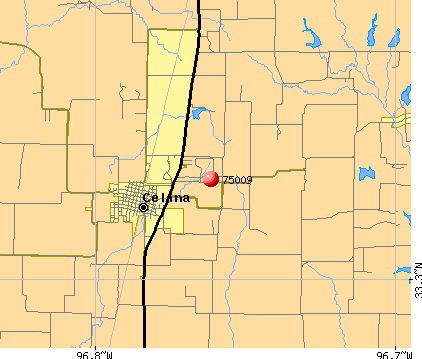 Celina, TX (75009) map