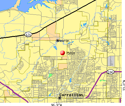 Carrollton, TX (75010) map
