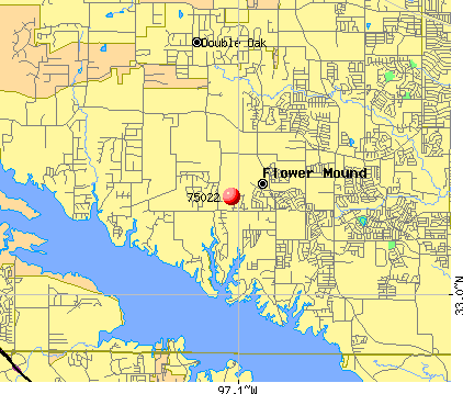 Flower Mound, TX (75022) map