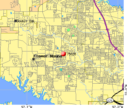 Flower Mound, TX (75028) map