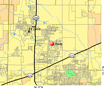 Frisco, TX (75035) map