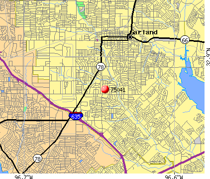 Garland, TX (75041) map