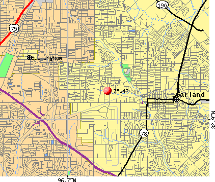 Garland, TX (75042) map