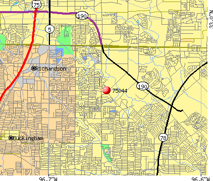 Garland, TX (75044) map