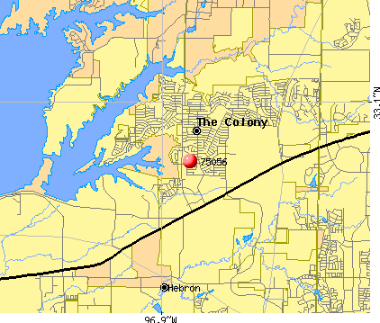 The Colony, TX (75056) map