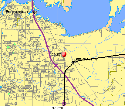 Lewisville, TX (75057) map