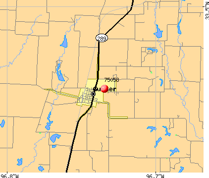 Gunter, TX (75058) map