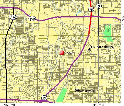 Richardson, TX (75080) map