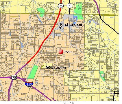 Richardson, TX (75081) map