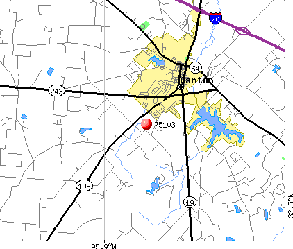 Canton, TX (75103) map
