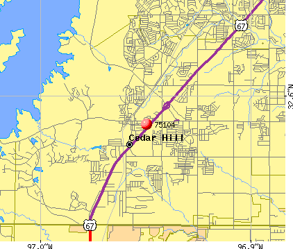 Cedar Hill, TX (75104) map