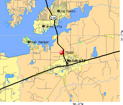 Malakoff, TX (75148) map