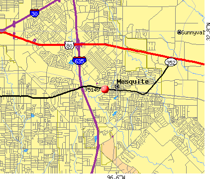 Mesquite, TX (75149) map