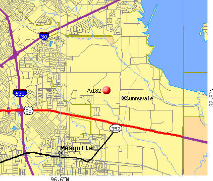 Sunnyvale, TX (75182) map