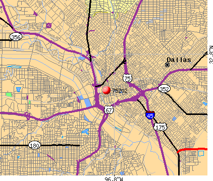 Dallas, TX (75202) map