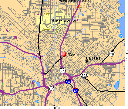 Dallas, TX (75204) map