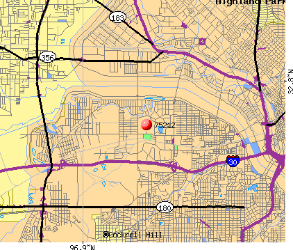 Dallas, TX (75212) map