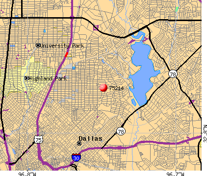 Dallas, TX (75214) map
