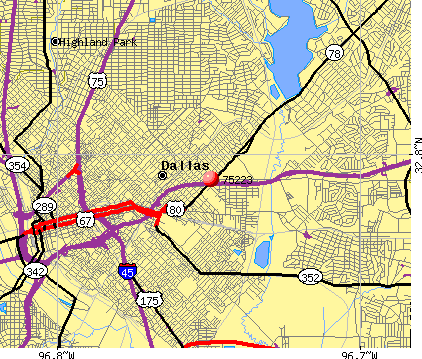 Dallas, TX (75223) map