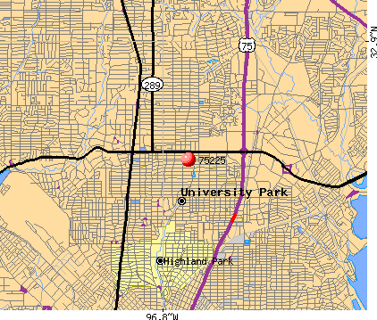 Dallas, TX (75225) map