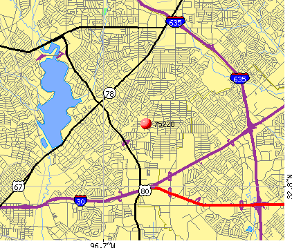 Dallas, TX (75228) map