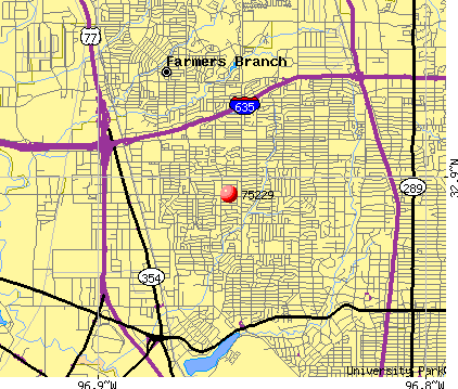 Dallas, TX (75229) map