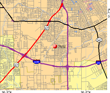 Dallas, TX (75232) map