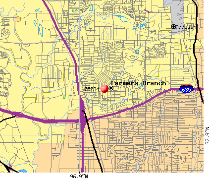 Farmers Branch, TX (75234) map