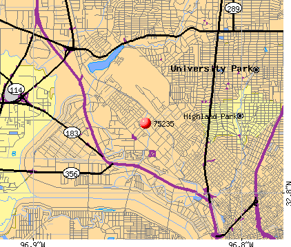 Dallas, TX (75235) map