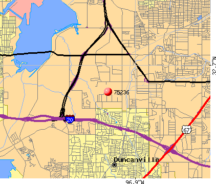 Dallas, TX (75236) map