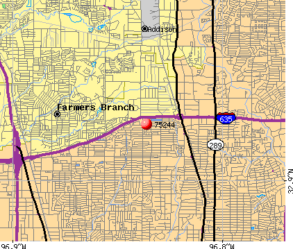 Farmers Branch, TX (75244) map
