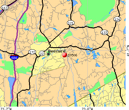 Bedford, NY (10506) map