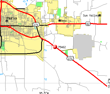 Paris, TX (75462) map