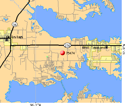 West Tawakoni, TX (75474) map