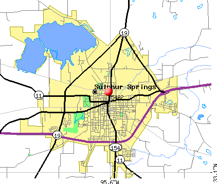 Sulphur Springs, TX (75482) map