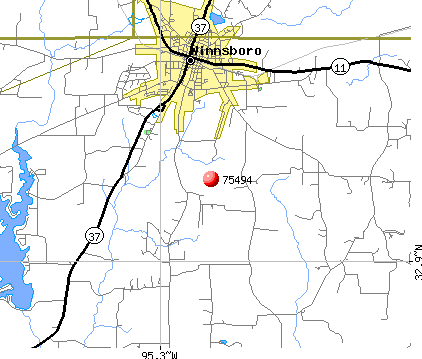 Winnsboro, TX (75494) map
