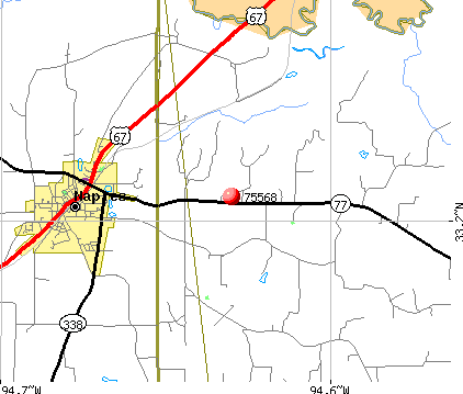 Naples, TX (75568) map