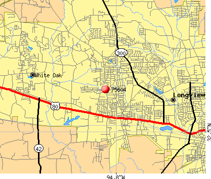 Longview, TX (75604) map