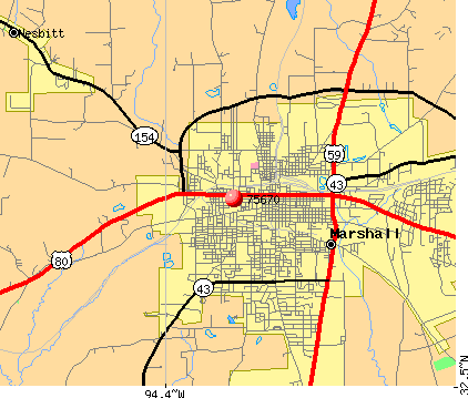 Marshall, TX (75670) map
