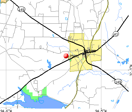 Tatum, TX (75691) map