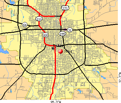 Tyler, TX (75701) map