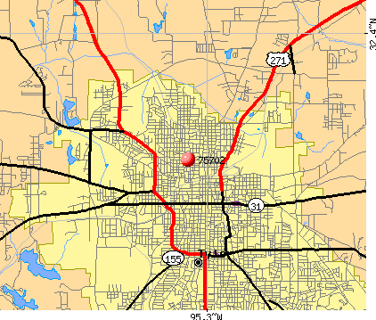 Tyler, TX (75702) map